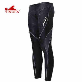 165bf0be2123 Yingfa Sharkskin entrenamiento de carreras traje de baño pierna completa  pantalones de baño mallas de entrenamiento resistente al cloro hombres ...