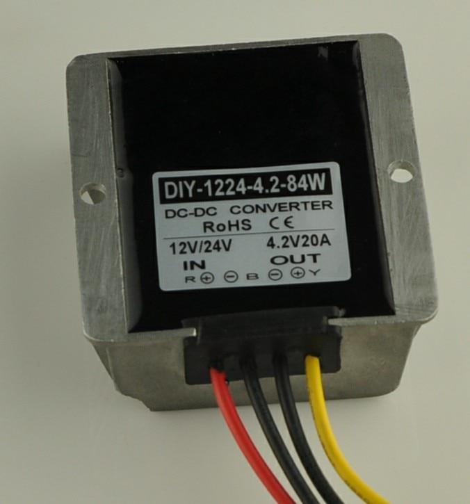 Converter DC 12V 24V 36V(7.5V-40V) Step Down 4.2V 20A 84W DC DC Buck Module Car Powe Adapter Voltage Regulator Waterproof