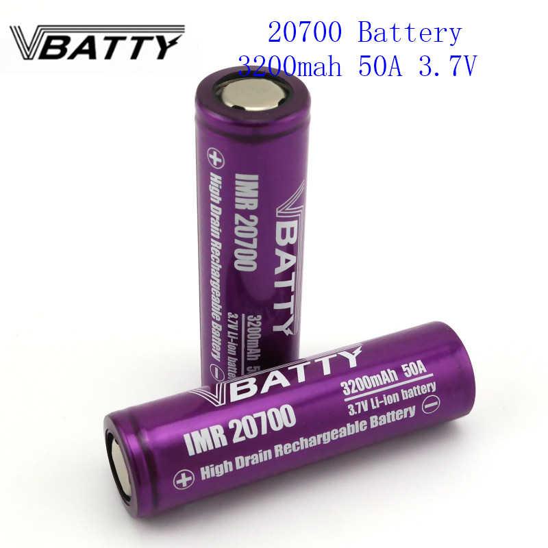 1 шт./лот 20700 батарея 3200 mah 50A 3,7 V литий-ионная аккумуляторная батарея высокого Слива 50A 20700 батарея
