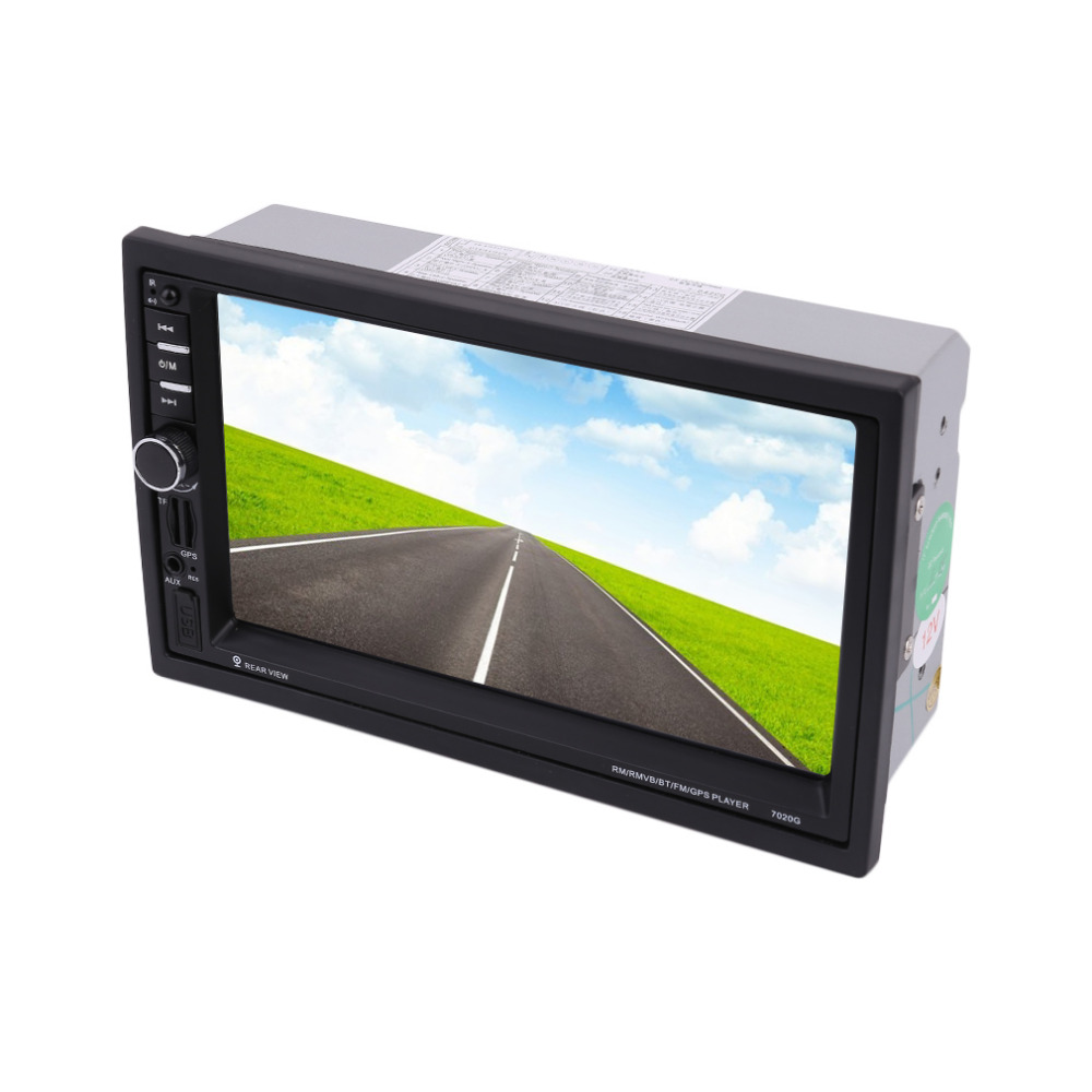 Newest 7020G Car Bluetooth Audio Stereo MP5 Player with Rearview Camera 7 inch Touch Screen GPS Navigation FM Function 7inch touch screen support hands free calls car stereo radio mp5 fm player with gps function 420 tv lines ir camera