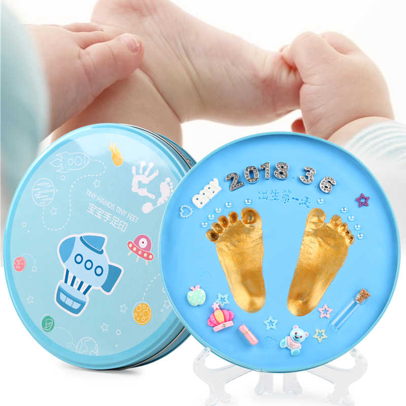 Candywood ทารกแรกเกิดเด็กอ่อน Handprint รอยเท้าพิมพ์ชุด Casting Parent ลายนิ้วมือมือเด็กปริศนาของเล่นปลอดภัย
