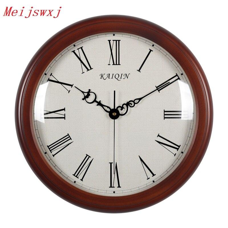 14 Inches Wall Clock Saat Reloj Wood Clock Relogio De Parede Duvar Saati Wall Clocks Relogio Horloge Murale Home Decor