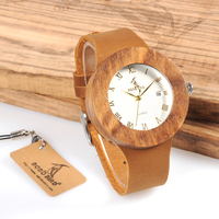 2017 BOBO BIRD Wooden Watches Zebra Stripes Quartz Watch Men Genuine Leather Band Wristwatch Relogio Masculino