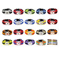 6pcs/lot Mix NFL Seahawks Patriots Raiders Ravens Paracord Survival Bracelet Adjustable Friendship Bracelet Football Bracelet