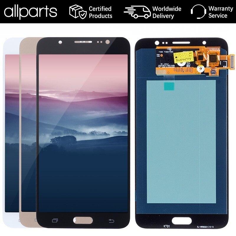 5.5 ''AMOLED LCD D'ORIGINE pour SAMSUNG Galaxy J7 2016 LCD Affichage à L'écran Tactile Pour SAMSUNG J7 2016 J710 J710F LCD Affichage