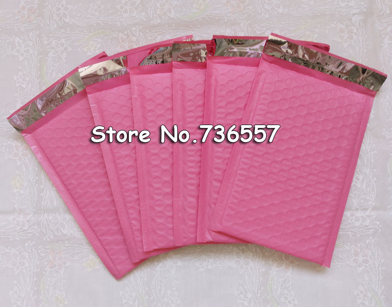 [250pcs] Pink 6.5X9inch / 165X229MM Usable Space Poly Bubble Mailer Envelopes Padded Mailing Bag Self Sealing