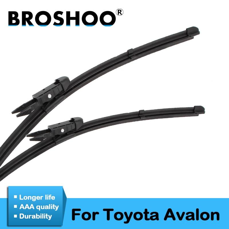Gehorsam Broshoo Auto Natürliche Gummi Wischer Klingen Für Toyota Avalon, Modell Jahr Von 2000 Zu 2018 Fit Standard Haken Arm/prise Tab Arm