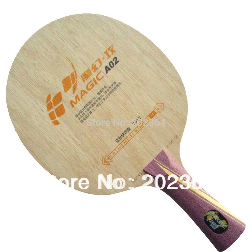 DHS Magic A02 (A 02, A-02) 7 Full Wood, Attack Type Shakehand (OFF++, Quick-attack) Table Tennis Blade for PingPong Racket dhs tg7 cp tg cp 7 tg cp 7 attack loop off table tennis blade for pingpong racket