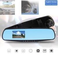 3.2'' HD Dashcam Car DVR Video recorder loop recording Mirror DVRS Blue mirror screeen for car rear mirror recorder dash cam