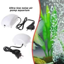 Ultra Low Noise Aquarium Fish Tank Luchtpomp Bubble Compressor Zuurstof Pomp Platte Insert/Ronde Insert Hoge Efficiëntie(China)