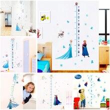 cartoon Elsa Anna princess height measure wall stickers home decor living room disney frozen growth chart decals mural art