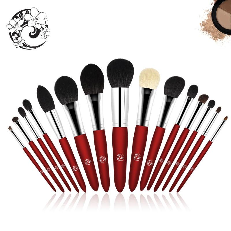 Marca ENERGIA 15 pcs Pincel de Maquiagem Profissional Set Make Up Brushes Brochas maquiagem Maquillage Pinceaux jx