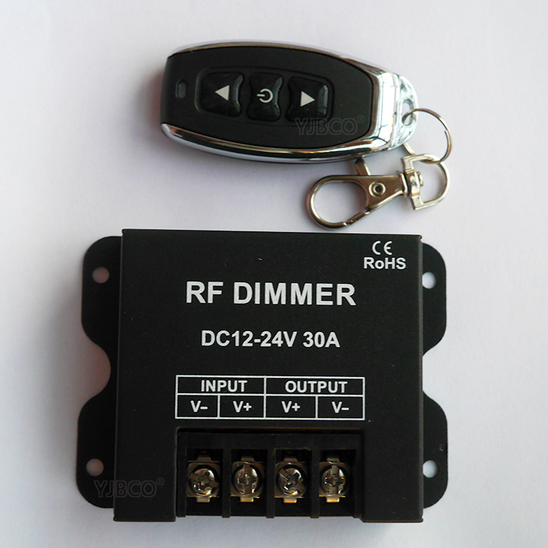 New 3 Keys RF LED Dimmer Wireless Brightness Remote Controller DC 12V 24V 30A 360W 720W for 5050 3528 Single Color Strip Lights цены онлайн