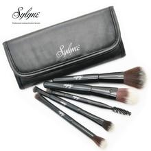 Sylyne дорожный набор кистей для макияжа, Черные Портативные 5 шт Профессиональные кисти для макияжа с сумкой