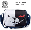 New Danganronpa Dangan Ronpa Cosplay White & Black Bear Shoulder Messenger Bag