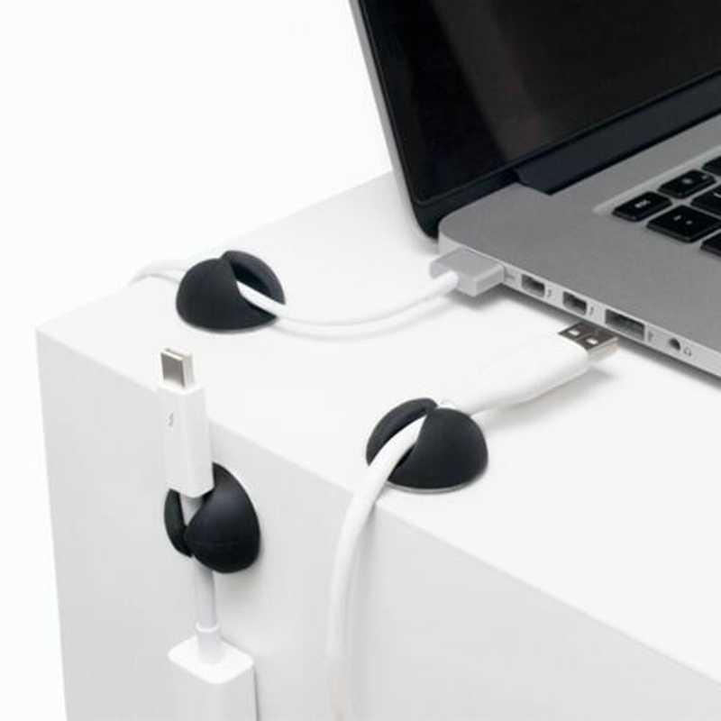ケーブルホルダー収納ワイヤーコレクタ USB ケーブルワインダー車クリップイヤホンケーブルオーガナイザー管理 MP3 、 MP4 、マウス、イヤホン