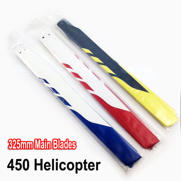 For Aglin TREX 450 RC Helicopter Accessories 325MM Glass Fiber Main Blade (suit For Kds 450)