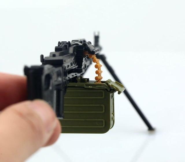 """1:6 PKP ametralladora 4D pistola para montar de plástico modelo para 12 """"soldado arma acción figura de juguete"""