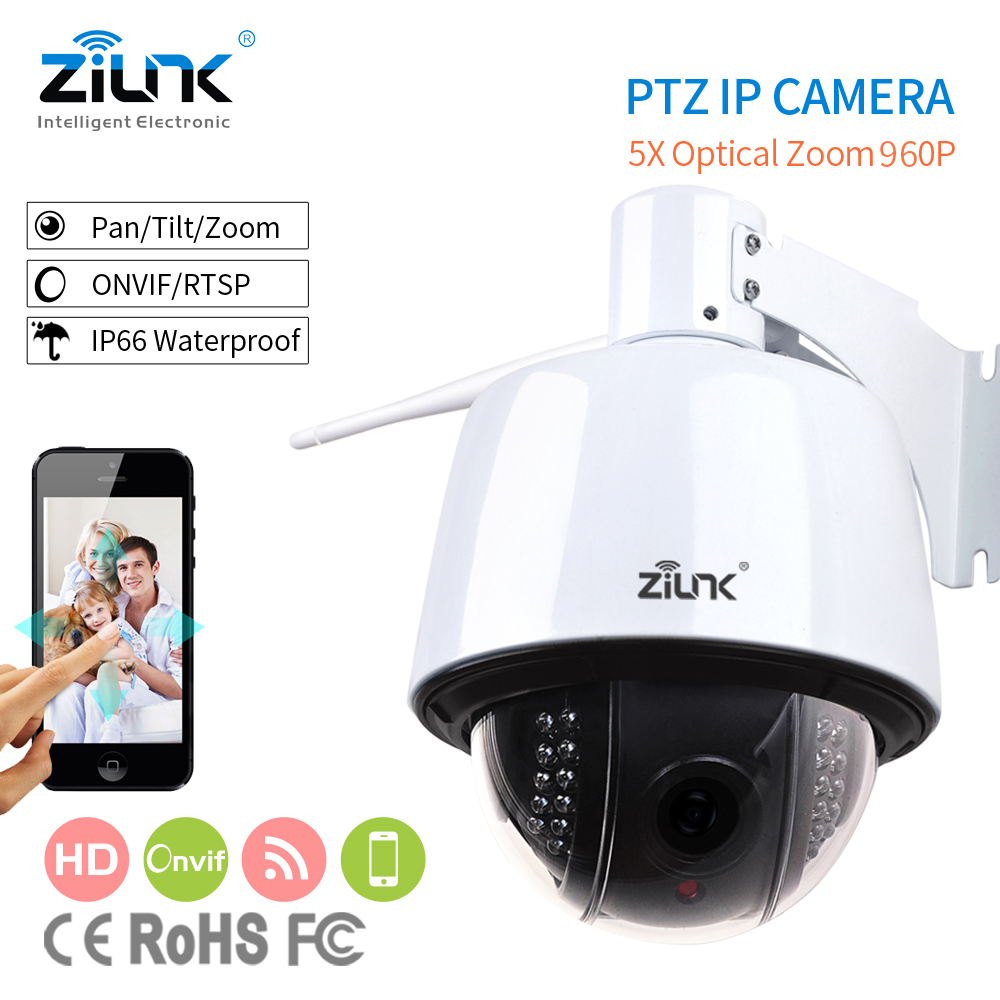 ZILNK Speed Dome IP Camera Outdoor PTZ 2.8-12mm Auto-focus IP66 Waterproof Onvif H.264 HD 960P Wifi Wireless Security Camera zilnk mini ptz speed dome ip camera 960p 5x optical zoom waterproof cctv wifi support tf card motion detection onvif h 264 black
