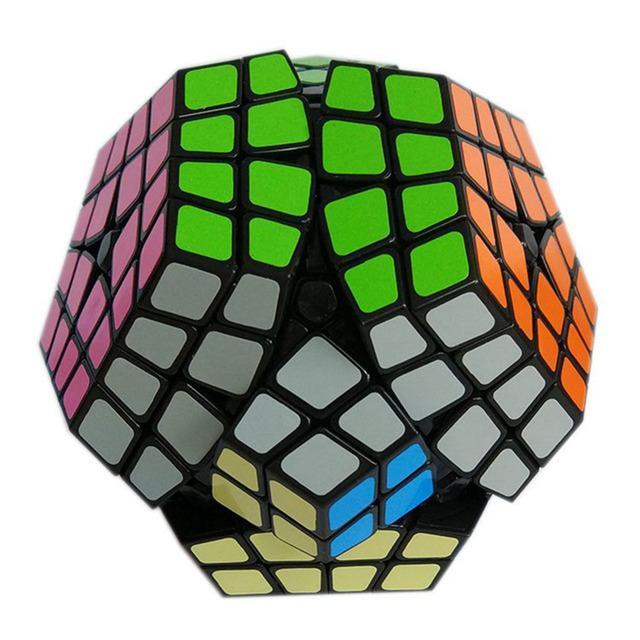 2016 El Más Nuevo Shengshou Megaminx Puzzle Cube 4x4 Velocidad Cubo Dodecaedro Rompecabezas Niños Juguetes Juguete Blanco Y Negro para Los Niños