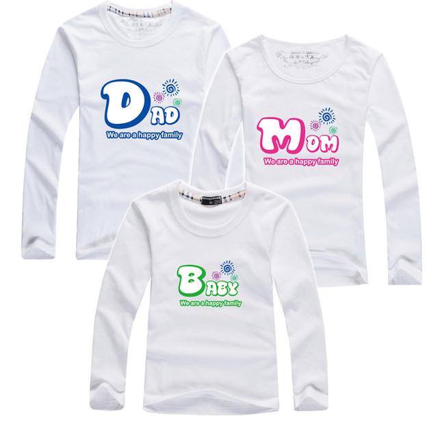 2015 otoño familia look ropa camisetas niños mujeres hombres juego de madre e hija ropa mamá y yo ropa