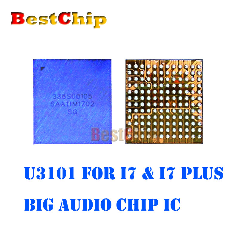 BestChip 100 New 10pcs lot U3101 for iphone 7 7plus big main audio codec ic chip
