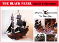 """""""Piratas do Caribe"""" a pérola negra navio galeão modelos de papel 3d diy paper modelo em escala do navio boneca brinquedos para crianças adulto"""