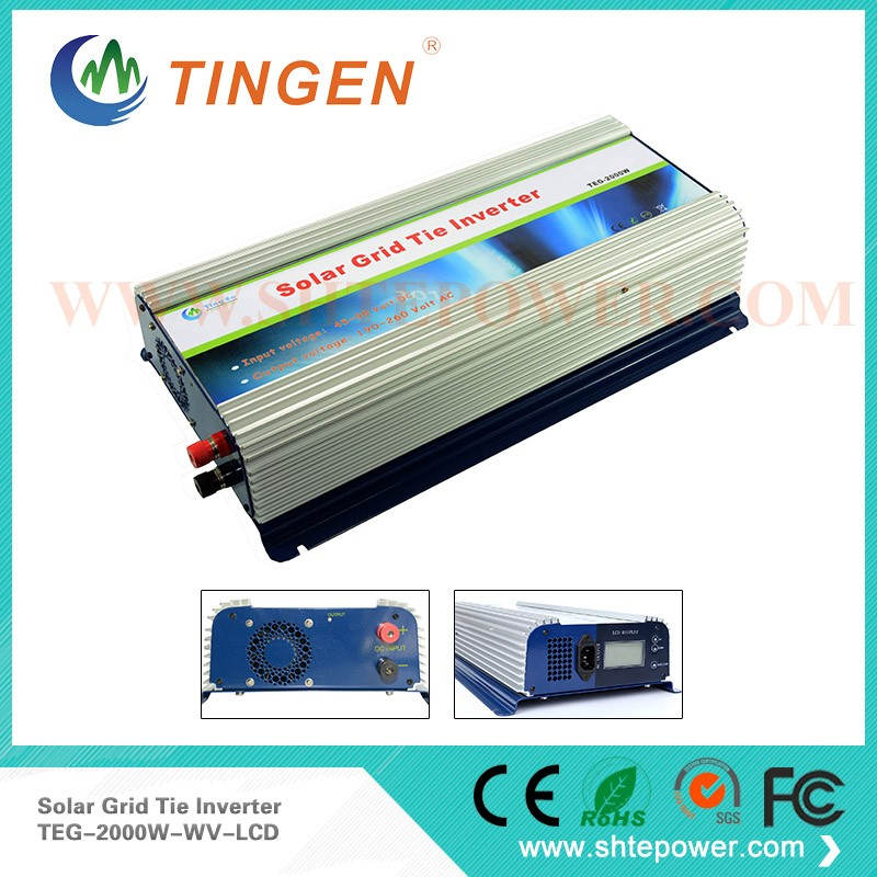 solar panel inverter 2000 watt on grid tie 190-260V AC out 45-90V DC in 300w solar grid on tie inverter dc 10 8 30v input to two voltage ac output 90 130v 190 260v choice