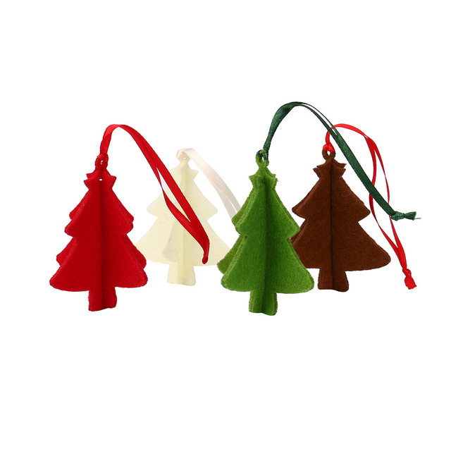 10pc christmas tree ornament hanging pendant embellishment felt craft gifts party decor pendants wholesale noot25 - Christmas Tree Ornaments Wholesale