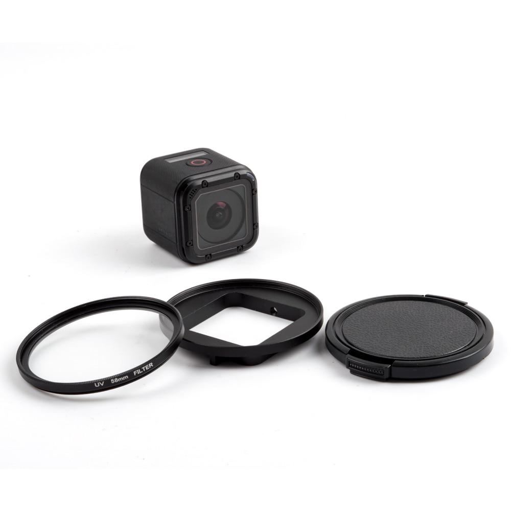 Pour GoPros Accessoires 58mm Ronde Cercle Polariseur Filtre UV Lens Filter avec Cap pour GoPro HERO 4 session