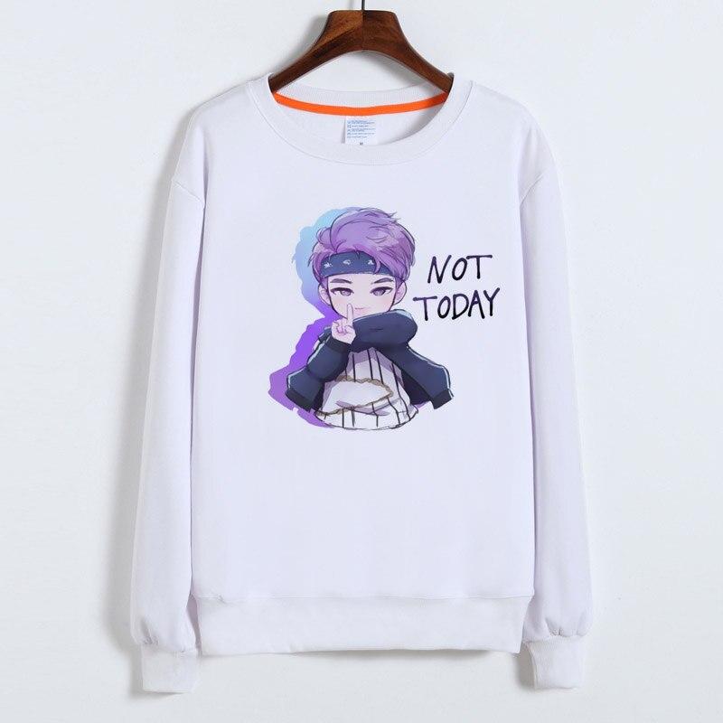 BTS kpop hoodies Frauen/Männer k-pop Sweatshirts SUGA JIMIN JUNG KOOK album nicht heute druck weiblichen Sweatshirt k pop kleidung