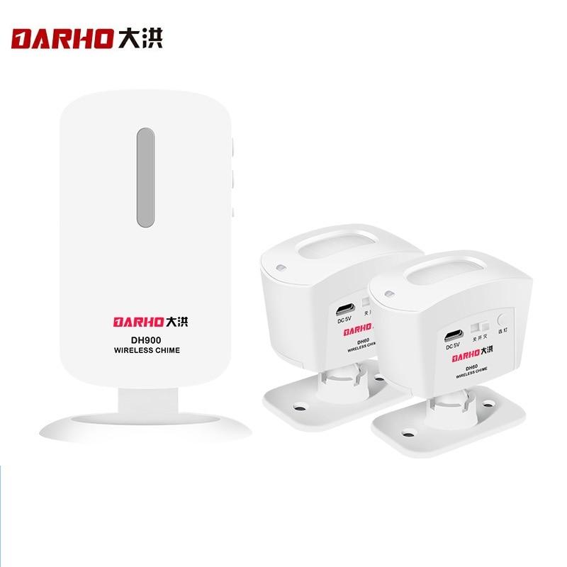 Darho Shop Store Wireless Burglar Home Security Doorbell Hello Welcome Chime PIR Motion Infrared Detector Burglar Alarm Set