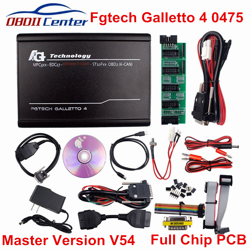 DHL Fgtech Galletto 4 V54 0475 FG-TECH Euro Master Version ECU programmeur FG TECH V54 0475 OBDII ECU puce Tuning outil voiture camion