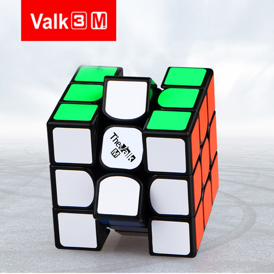 Qiyi The Valk3 M Speed Cube 3x3x3 Magnetic Black/stickerless Professional Cubo Magico Toys For Kids Valk 3 M Puzzle Cube Magnet