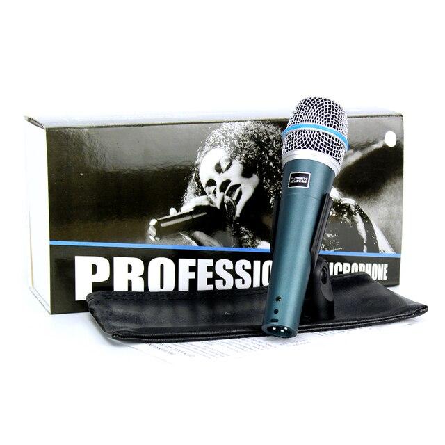 2 stücke BETA57A Microfono Professionelle Dynamische Mic Handheld Wired Mikrofon Für Computer Beta 57A 57 Microfone Karaoke Mixer Audio