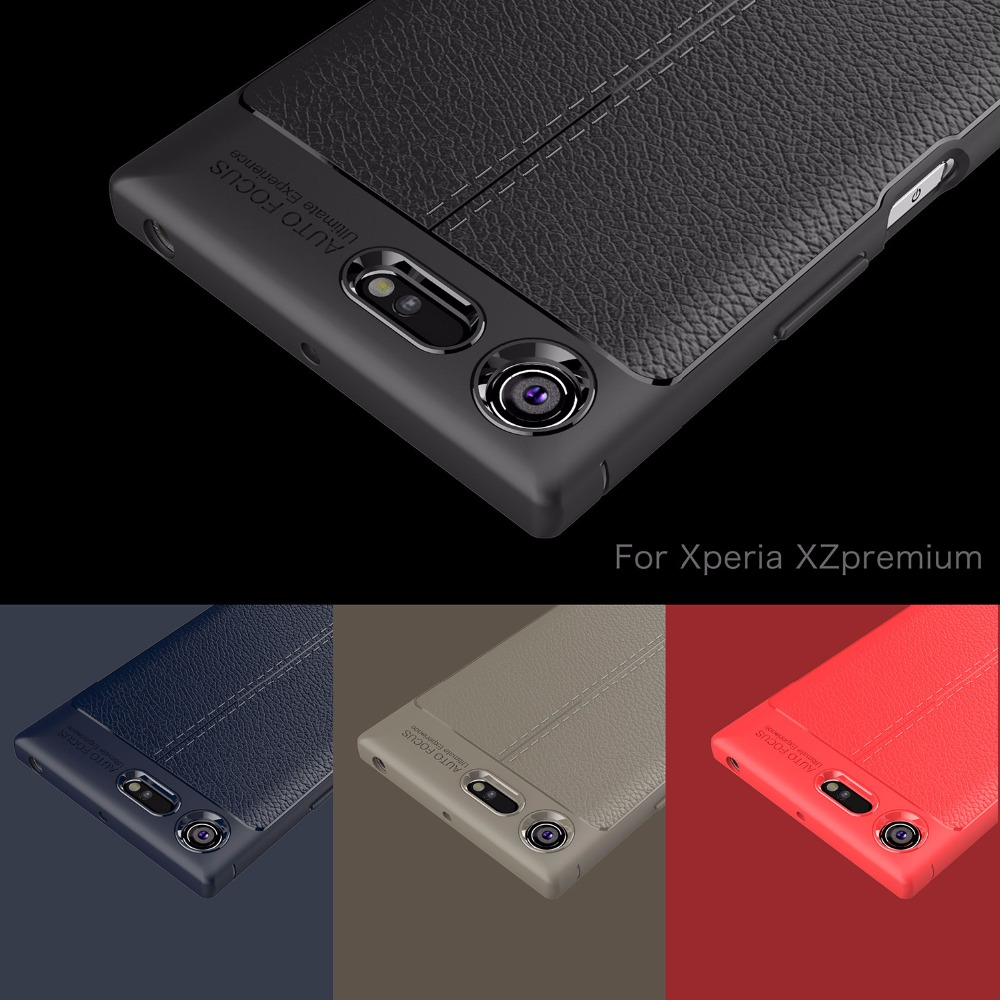new style 4b107 fd6dd BYHeYang For Capa Sony Xperia XZ Premium Case Soft Litchi TPU Case For Sony  Xperia XZ Premium Cover For Sony XZ Premium G8141