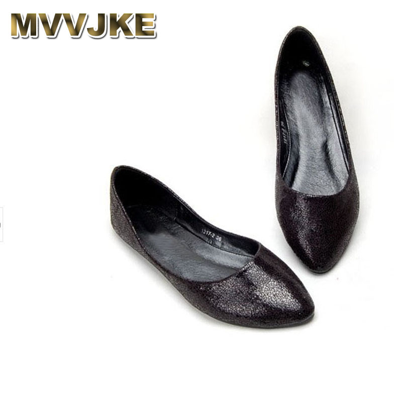 MVVJKE  Ladies ballet flats shoes for dance soft sole pointy toe comfortable slip on women european and american style plus size цена