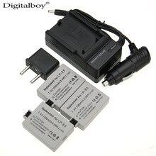Digital boy 6 unids/set lp-e5 lp e5 lpe5 batería recargable batería de la cámara + cargador + cargador de coche + enchufe para canon 450d 500d 1000d