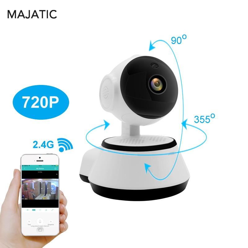 купить Majatic Wifi IP Camera Wireless Surveillance Home Security Cameras Night Vision CCTV Camera Wi-fi Baby Monitor PTZ IP Camera по цене 1158 рублей