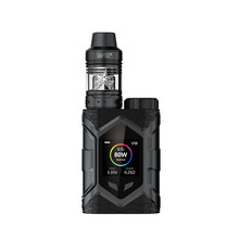 Vape pen Vaptio Wall crawler kit 80W Frogman RDA/RDTA Tank 2.0ml Dual Core 0.4ohm support single 18650 Battery TCR Color Screen