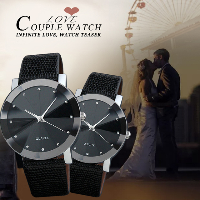 Female Fashion Black Alloy Quartz Watch Relogio Masculino Men Women Time Casual