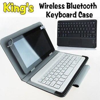Teclado Bluetooth inalámbrico de cuero cubierta de la caja para 10,1 pulgadas...