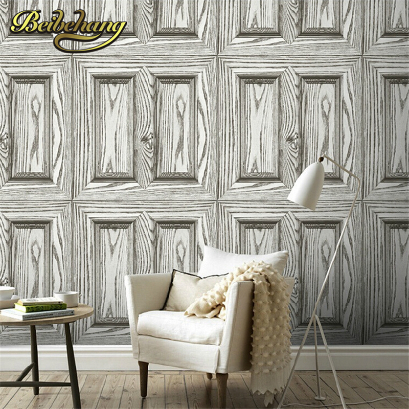 beibehang  Pvc wallpaper wood design Wall paper Roll For living room 3D Wallpaper for home decoration papel de parede listrado