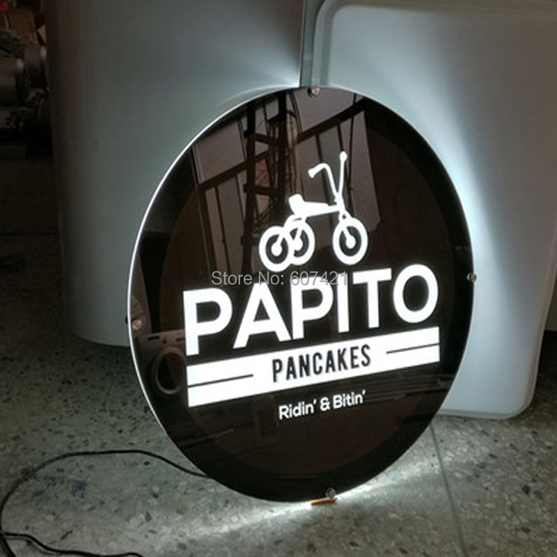Round Shape Single Sided Led Window Displays, Illuminated Poster Frames for Real Estate Agent,Chain Store,Retail
