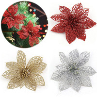 Aliexpress.com : Buy 10 Pcs/Set Hollow Xmas Flowers Artificial ...