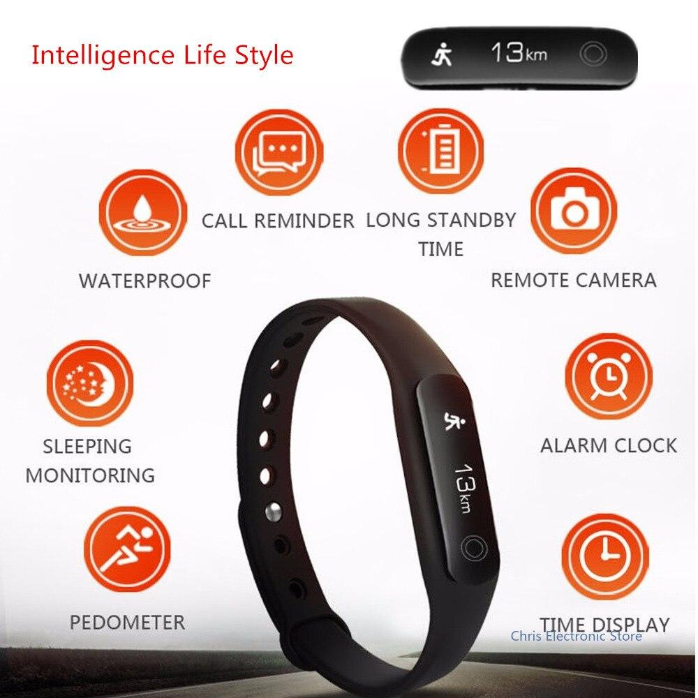Mesuvida U02 Sleep Monitor Smart Wristband Long Standby Remote Camera Smart Bracelet OLED Bluetooth 4 0