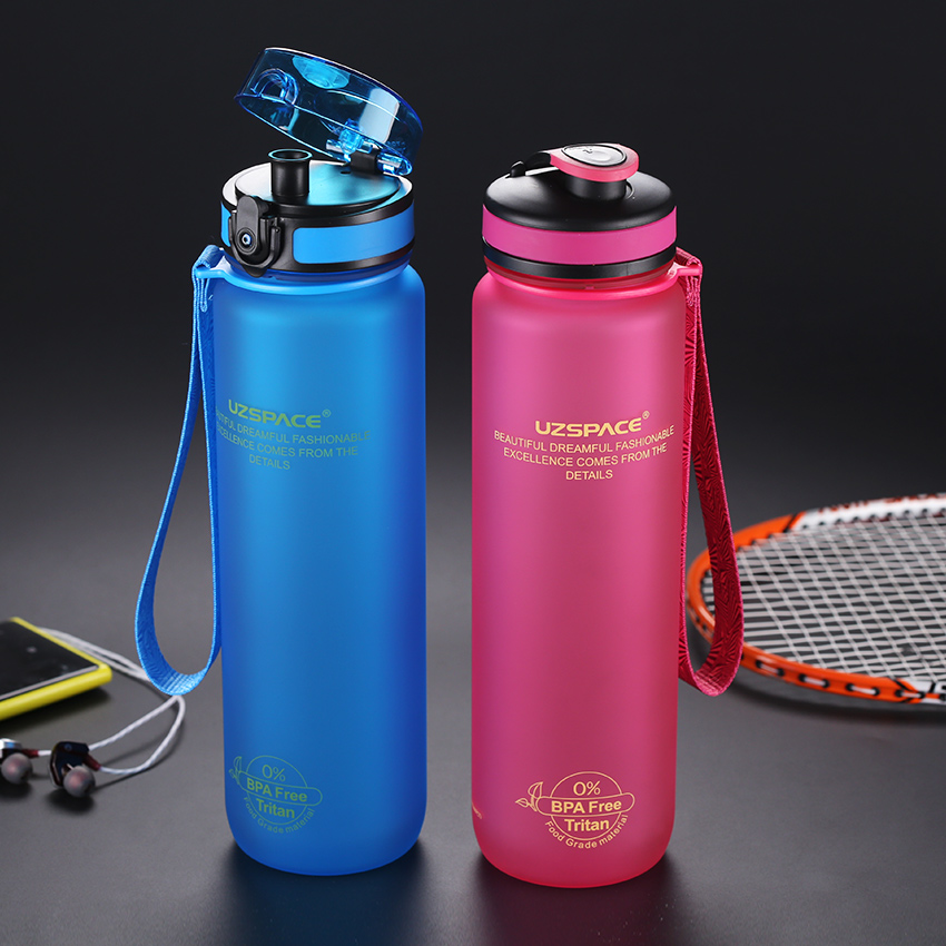 UZSPACE 0%BPA Plastic Sports Water Bottle Protein Shaker Portable Tour Outdoor Camp Tea Fruit My Drink Bottle 500/650/1000ml|water bottle portable|tea bottle|my water bottle - AliExpress