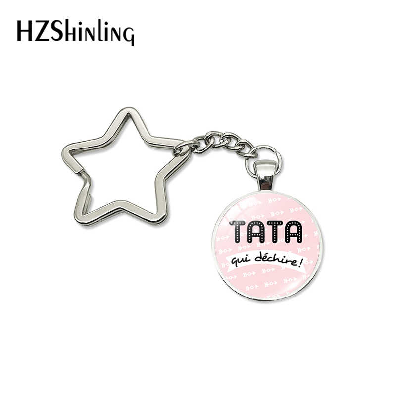 2019 Fashion Tata Marraine Qui Dechire Star Key Chain Hook Lobster Buckle Keyring Maitresse Mamie Super Jewelry Ladies Gifts