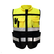 High Visibility Safety Vest Printed Jacket Night Security Reflective Waistcoat Reflector Stripes Outdoor Night Riding Workwear(China)