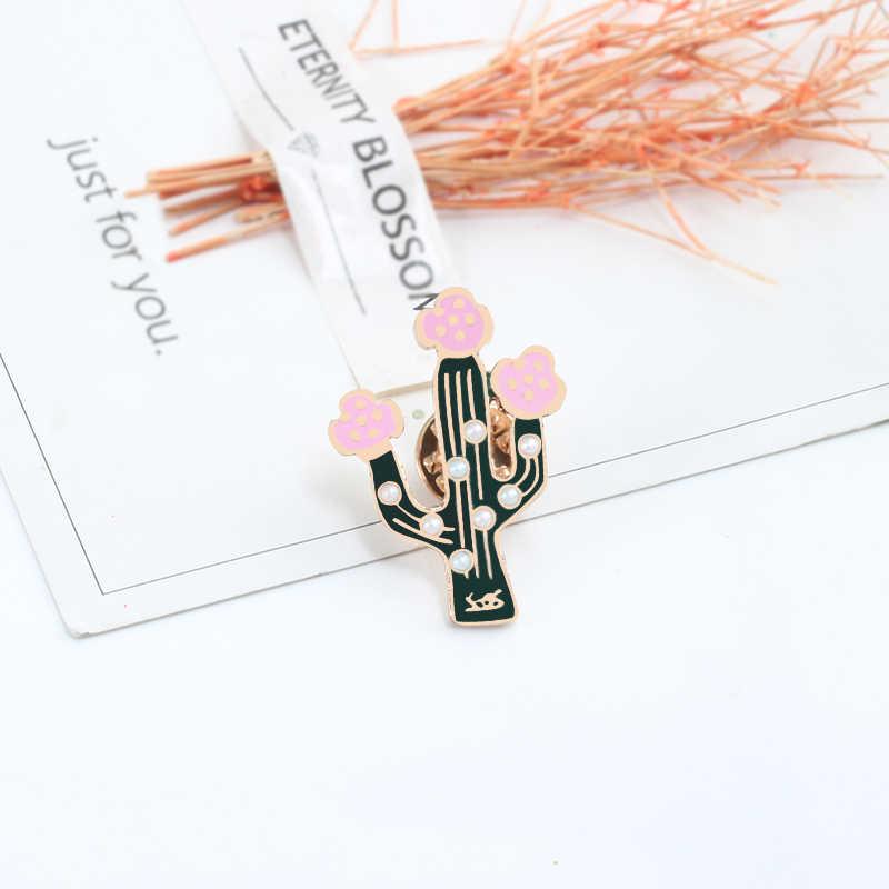 Fashion Enamel Pin Wanita Bros Kartun Lucu Bunga Tanaman Hijau Katak Pin Denim Jaket Lencana Aksesoris Pakaian Anak Hadiah